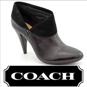 Coach Annika leather slip on booties size 6.5B